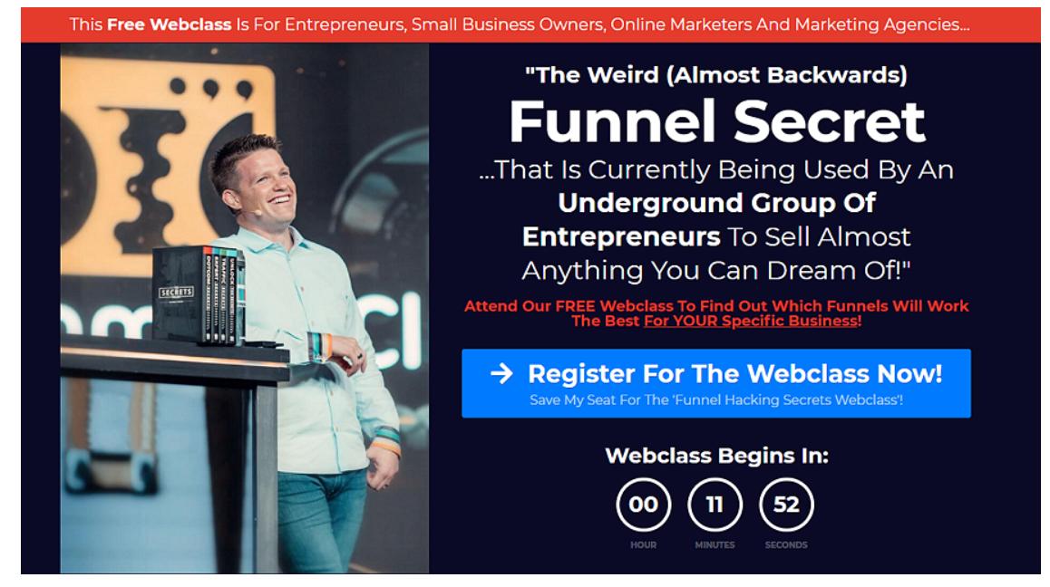 Funnel Hacking Secrets Webinar