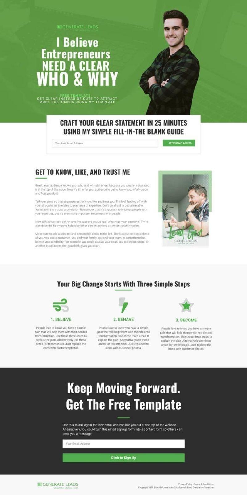 Lead generation clickfunnels template